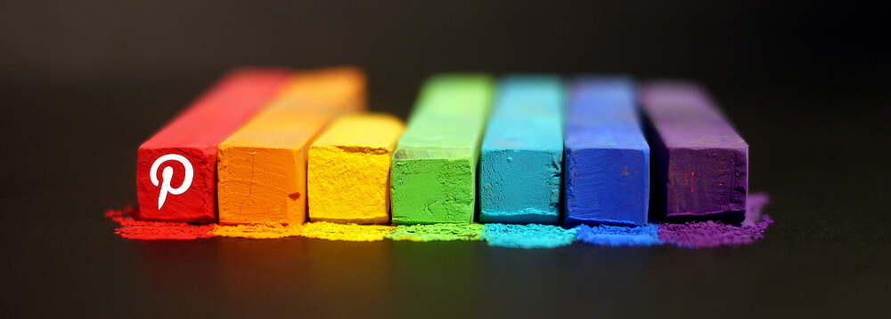 Colourful Pinterest crayons