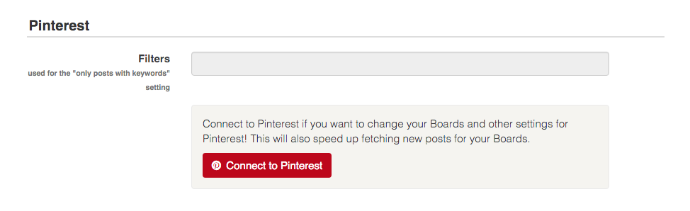 Connect your Pinterest account in the Walls.io setting to speed up the fetching of posts