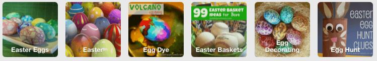 Easter eggs on Pinterest