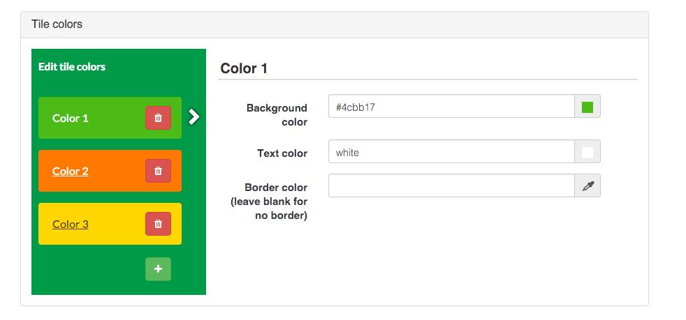 Walls.io settings: Tile colours