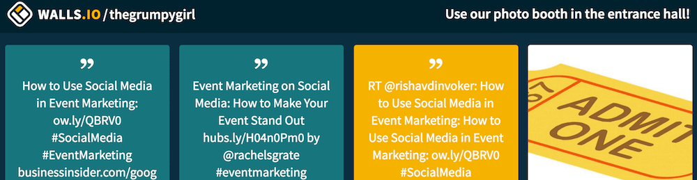 Your new social wall title will show on the top right hand side of your social media wall.