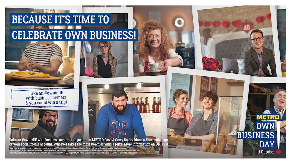 The key visual for METRO's Own Business Day 2016