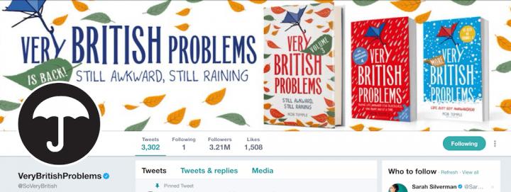Screenshot: Very British Problems Twitter profile header