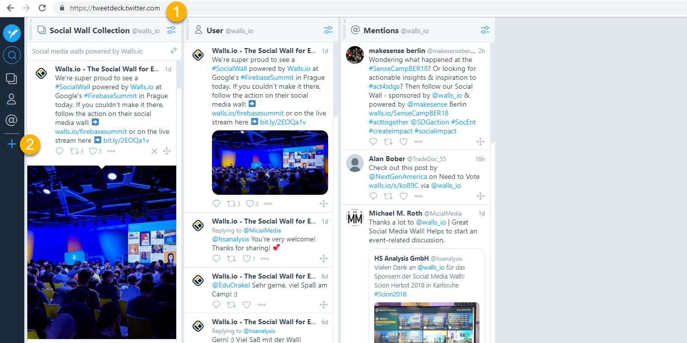 tweetdeck twitter collection create