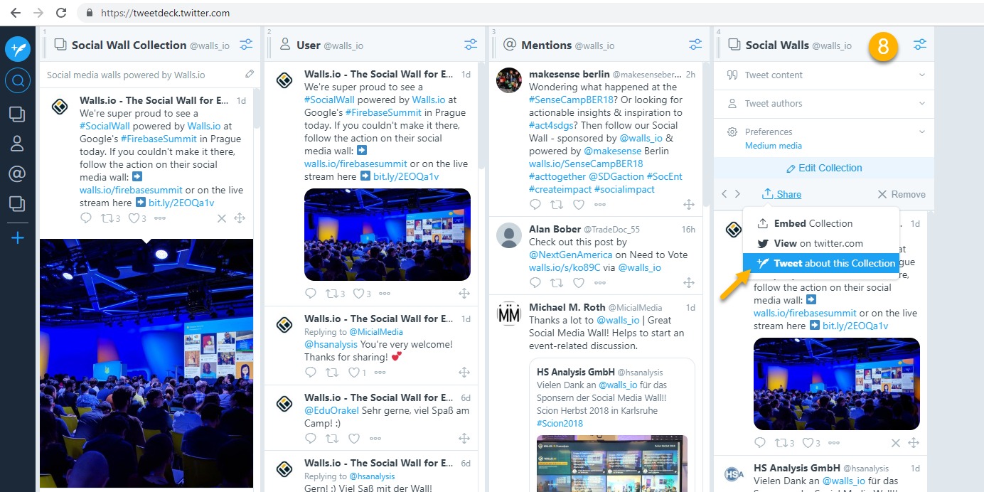 Tweetdeck-twitter-collection-sharelink
