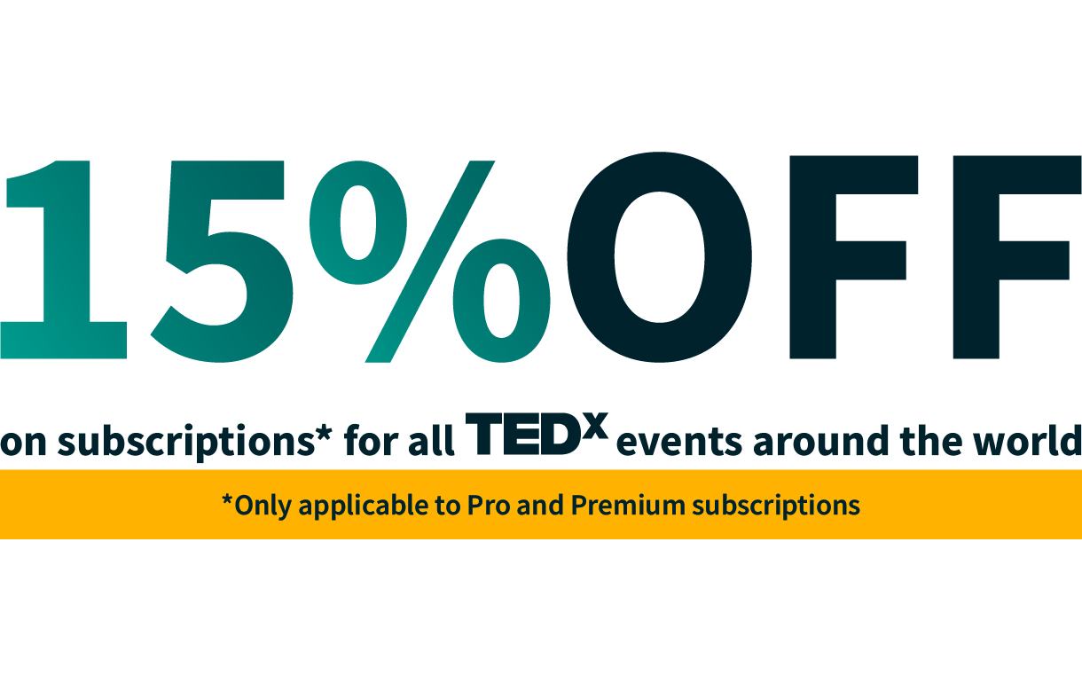 TEDx Events Social Wall Discount