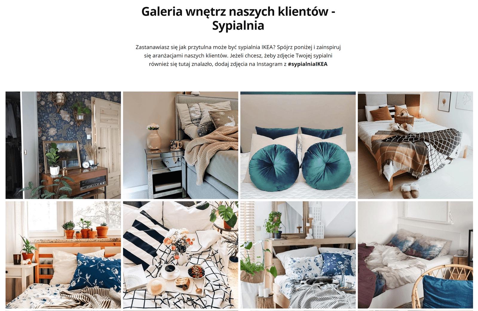 Ikea social media feed on website example