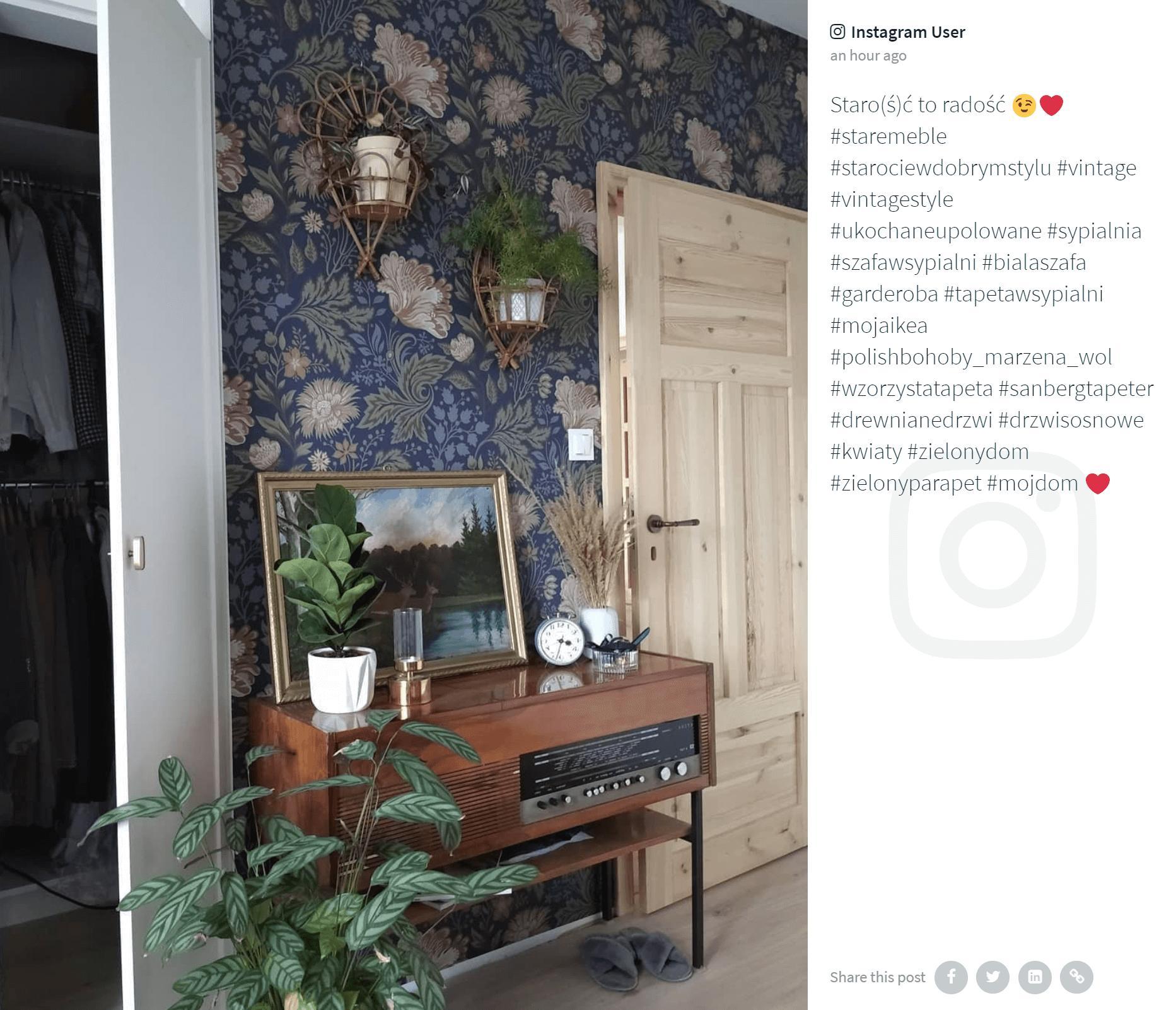 IKEA Poland social media feed on website example