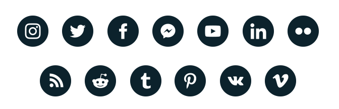 Social media feed on website. Walls.io supported social networks.