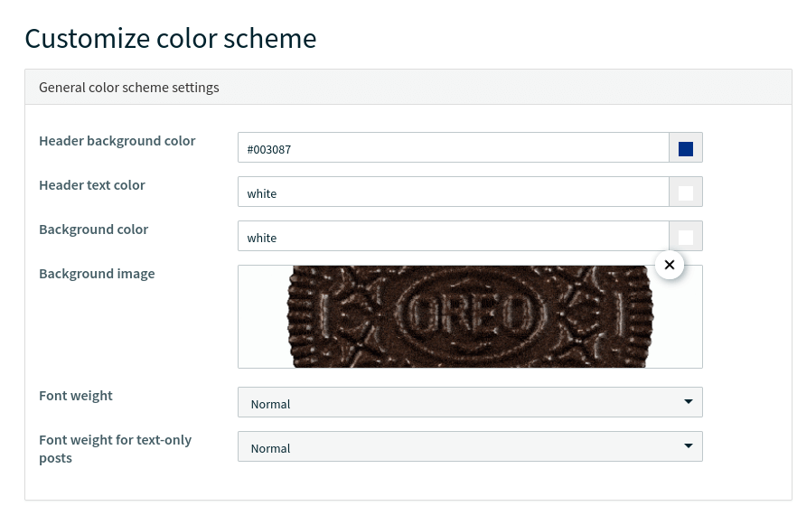 Screenshot of the section in Walls.io where you can change the background image of a social wall.