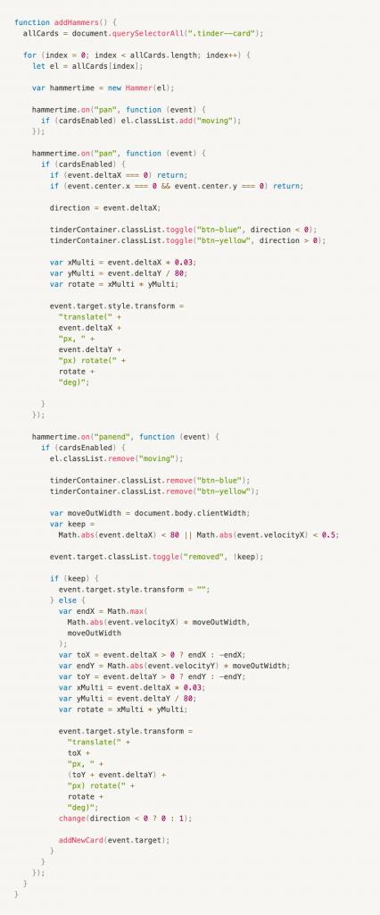 Screenshot of code.